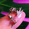 Ласточки серебряные серьги гвоздики - Пуссеты Ласточки родированное серебро - Серьги серебро птички минимализм, фото 2