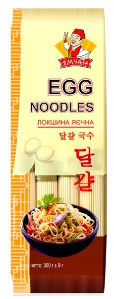 Лапша яичная EGG noodles Ямчан 300г, 24шт/ящ