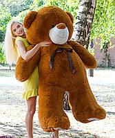 Большой плюшевый медведь 200 см Коричневый, Мишки 2 метра, Большие мягкие игрушки, Большой плюшевый медведь