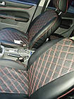 Чехлы на сиденья Джили МК (Geely MK) (модельные, 3D-ромб, отдельный подголовник), фото 7