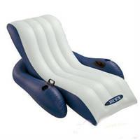 Надувное кресло Intex 58868 шезлонг с подлокотниками