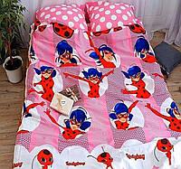 Детская постель Леди Баг, полуторный комплект постельного белья, бязь, коттон