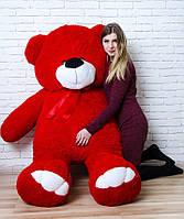 Большой плюшевый медведь 200 см Красный, Мишки 2 метра, Большие мягкие игрушки, Большой плюшевый медведь