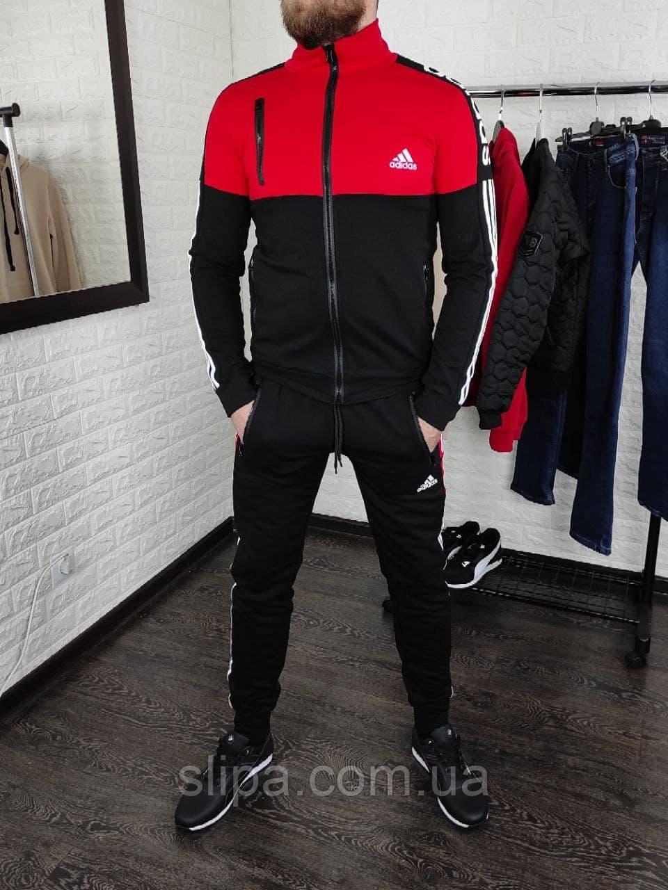 Чоловічий спортивний костюм Adidas без капюшона , штани на манжетах