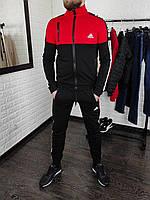 Чоловічий спортивний костюм Adidas без капюшона , штани на манжетах, фото 1