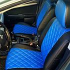 Чехлы на сиденья Фиат Линеа (Fiat Linea) (модельные, 3D-ромб, отдельный подголовник), фото 2