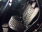Чехлы на сиденья Фиат Линеа (Fiat Linea) (модельные, 3D-ромб, отдельный подголовник), фото 6