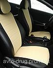 Чехлы на сиденья Пежо Эксперт Ван (Peugeot Expert Van) (1+2,модельные, экокожа Аригон+Алькантара, отдельный, фото 7