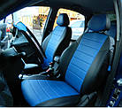 Чехлы на сиденья Пежо Эксперт Ван (Peugeot Expert Van) (1+2,модельные, экокожа Аригон+Алькантара, отдельный, фото 8