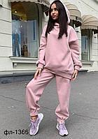 Женский стильный спортивный костюм на флисе Оверсайз Разные цвета, фото 1