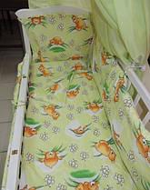 Бортики в детскую кроватку защита бампер Зеленый для новорожденных, фото 3