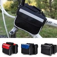 Велосипедная сумка с боками на раму с отделением для телефона