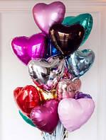 """Шар фольгированный в форме сердца 18"""" (45 см.) Китай (поштучно) на Оболони"""