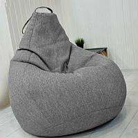 Кресло мешок груша Beans Bag микро-рогожка 100 х 140 см Меланж (hub_1rnsac)