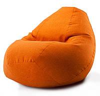 Кресло мешок груша Beans Bag микро-рогожка 100 х 140 см Оранжевый (hub_019hck)
