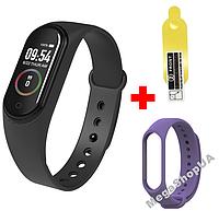 Фитнес браслет Smart Bracelet Mi Band M4 Black&Purple, фитнес трекер, спорт часы, умные часы,розумний годинник