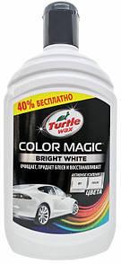 Подкрашивающий полироль Turtle Wax Color Magic белый 500 мл