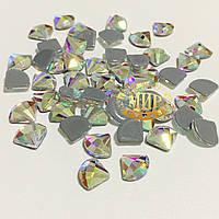 Стразы Crystal AB №2 термофиксация 6x8мм 1шт