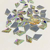 Стразы Crystal AB №3 термофиксация 9x6мм 1шт