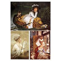 Бумага для декупажа 21х30 см Три женских портрета