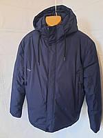 Тепла зимова чоловіча куртка фабричного виробництва Китаю темно-синя SAZ великого розміру (батал)