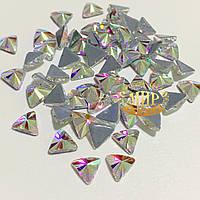 Стразы Crystal AB №7 термофиксация 5x4мм 1шт