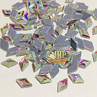 Стразы Crystal AB №8 термофиксация 5x3мм 1шт