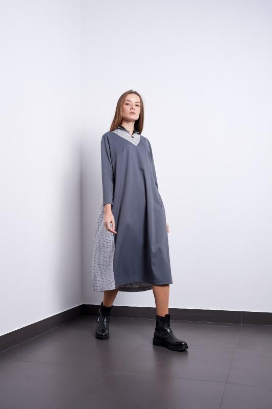 Платье Тамара серое Modna KAZKA
