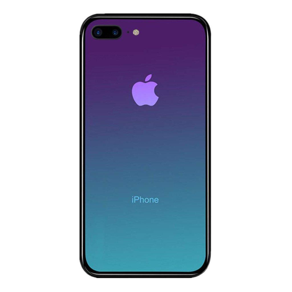 Чехол Amber-Glass для Iphone 7 Plus / 8 Plus бампер накладка градиент Aquamarine