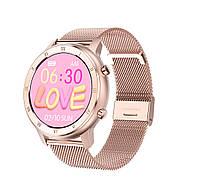 Умные часы NO.1 DT89 Metal с тонометром и пульсоксиметром (Розово-золотой)