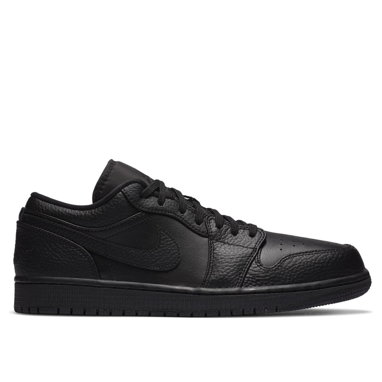 Мужские кроссовки Air Jordan 1 Low Triple Black 553558-091