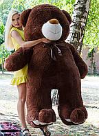 Большой плюшевый медведь 200 см шоколадный, Мишки 2 метра, Большие мягкие игрушки, Большой плюшевый медведь