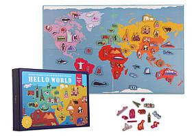 Карта Світу магнітна Привіт Світ! Mideer