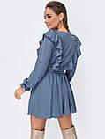 Коротке плаття з рюшами з боків і розкльошеною спідницею, фото 3