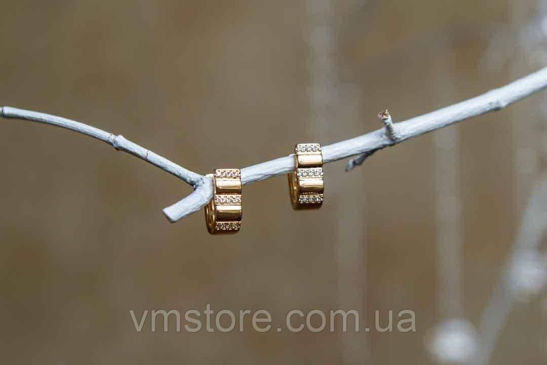 Сережки кільця, сережки позолота