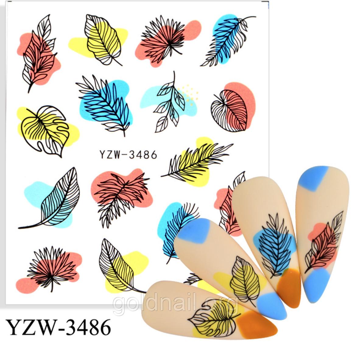 Слайдер водный для дизайна ногтей YZW-3486