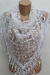 Платок белый с камнями свадебный церковный ажурный 230010