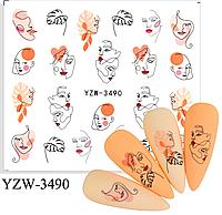 Слайдер водный для дизайна ногтей YZW-3490