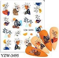 Слайдер водный для дизайна ногтей YZW-3495