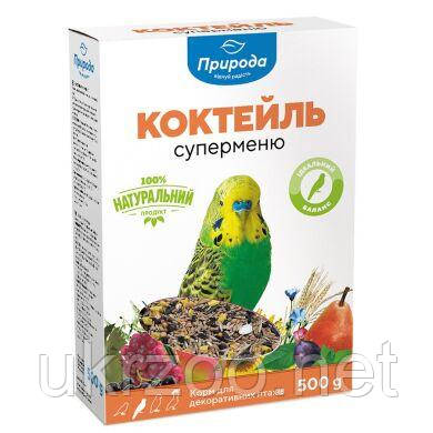 Корм для волнистых попугаев Природа Коктейль «Суперменю» 500 г PR740030