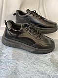 Черные кроссовки, кеды новые на невысокой платформе, фото 4