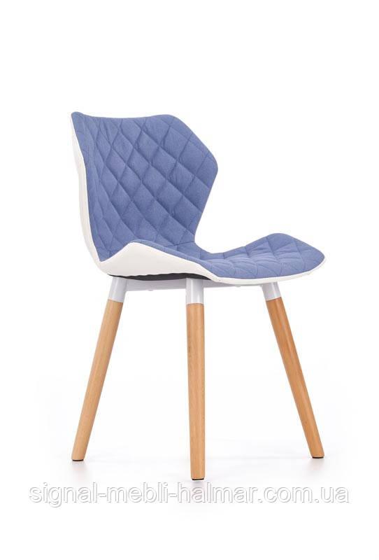 Cтул K277 белый / синий стул(Halmar)