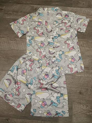 Женская пижама ткань атлас 88-13, фото 2