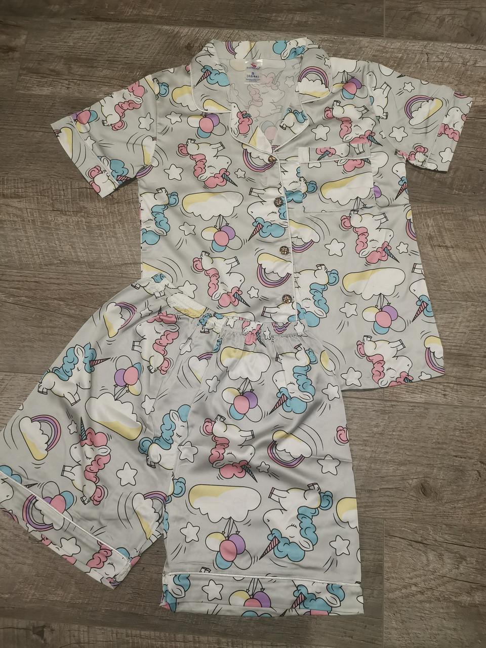Женская пижама ткань атлас 88-13