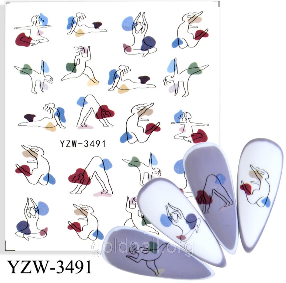 Слайдер водный для дизайна ногтей YZW-3491
