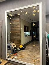 Зеркальное панно с рамкой из прямоугольников