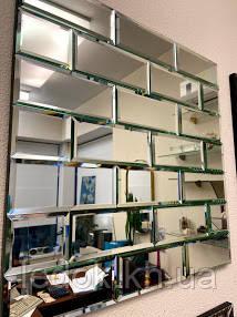 Зеркальное панно из кирпичная кладка