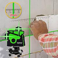 Лазерний рівень 3D 12 ліній PRACMANU N12X11 (зелений), фото 1