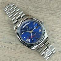 Красивые мужские часы Rolex Day-Date Automatic Silver-Blue