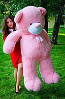 Большой плюшевый медведь 200 см Розовый, Мишки 2 метра, Большие мягкие игрушки, Большой плюшевый медведь